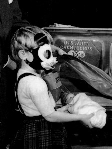 Mickey gas mask for kids